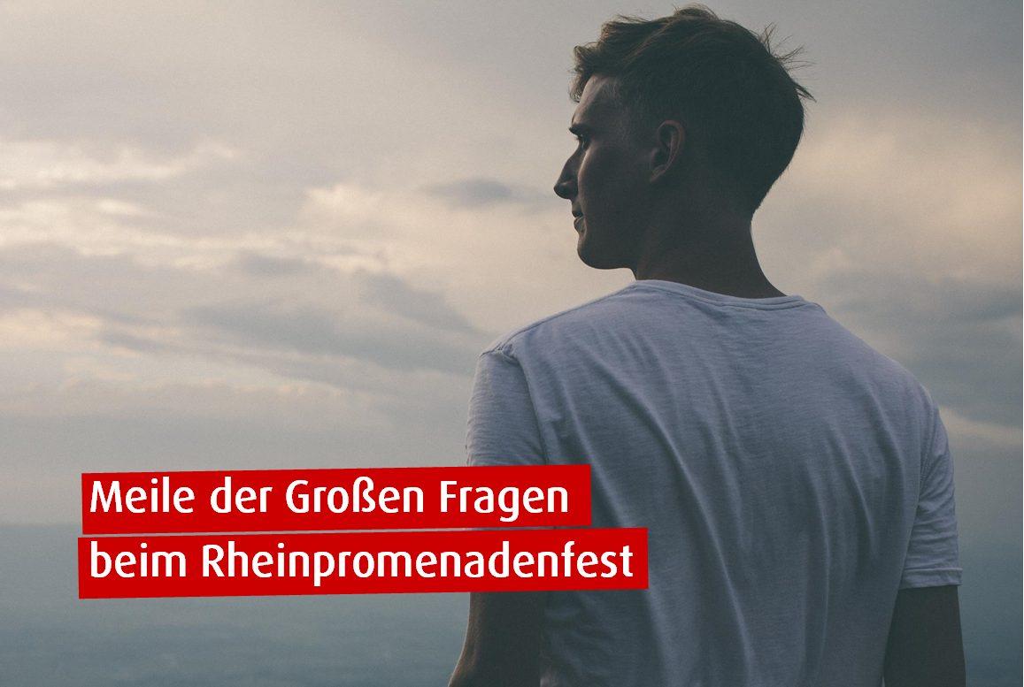 """3. """"Meile der Großen Fragen"""" an der Rheinpromenade"""